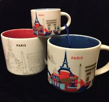 Starbucks Paris Mug Ornament Set YAH France Christmas Cup Holiday You Are Here