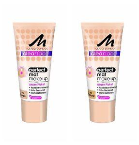 Manhattan-Clear-Face-Perfect-Mat-Make-Up-75-Beige-77-Natural-Long-Lasting-Matte