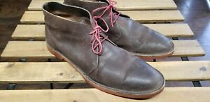 Cole Haan Brown Distressed Leather Paul
