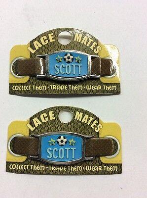 2 Encaje Mates Scott (zapato o pulsera bisutería forma) Fiesta Favores de gastos de envío gratis