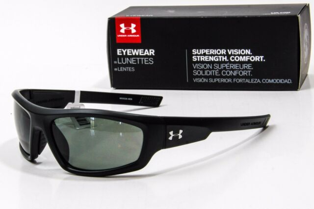 c7151c3def Under Armour Unisex UA Power Polarized Satin Black Sunglasses for ...