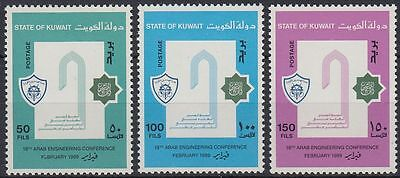 Kreativ Kuwait 1989 ** Mi.1179/81 Ingenieurwesen Engineering Kuwait