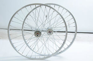 PAIR-26x1-75-559-21-RIM-FLIP-FLOPFIXIE-BIKE-WHLS-SEALED-HUBS-MTB-CONVERSIONS