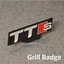 Front TTS Grill Car Badge Chrome Red Black Emblem Decal Logo Audi Grille (ttsg)