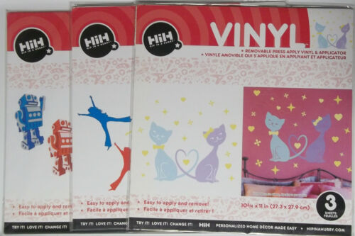 Assorted Vinyl Removable Wall  Decals 3 Sheets each Set  your Choice  $2.99