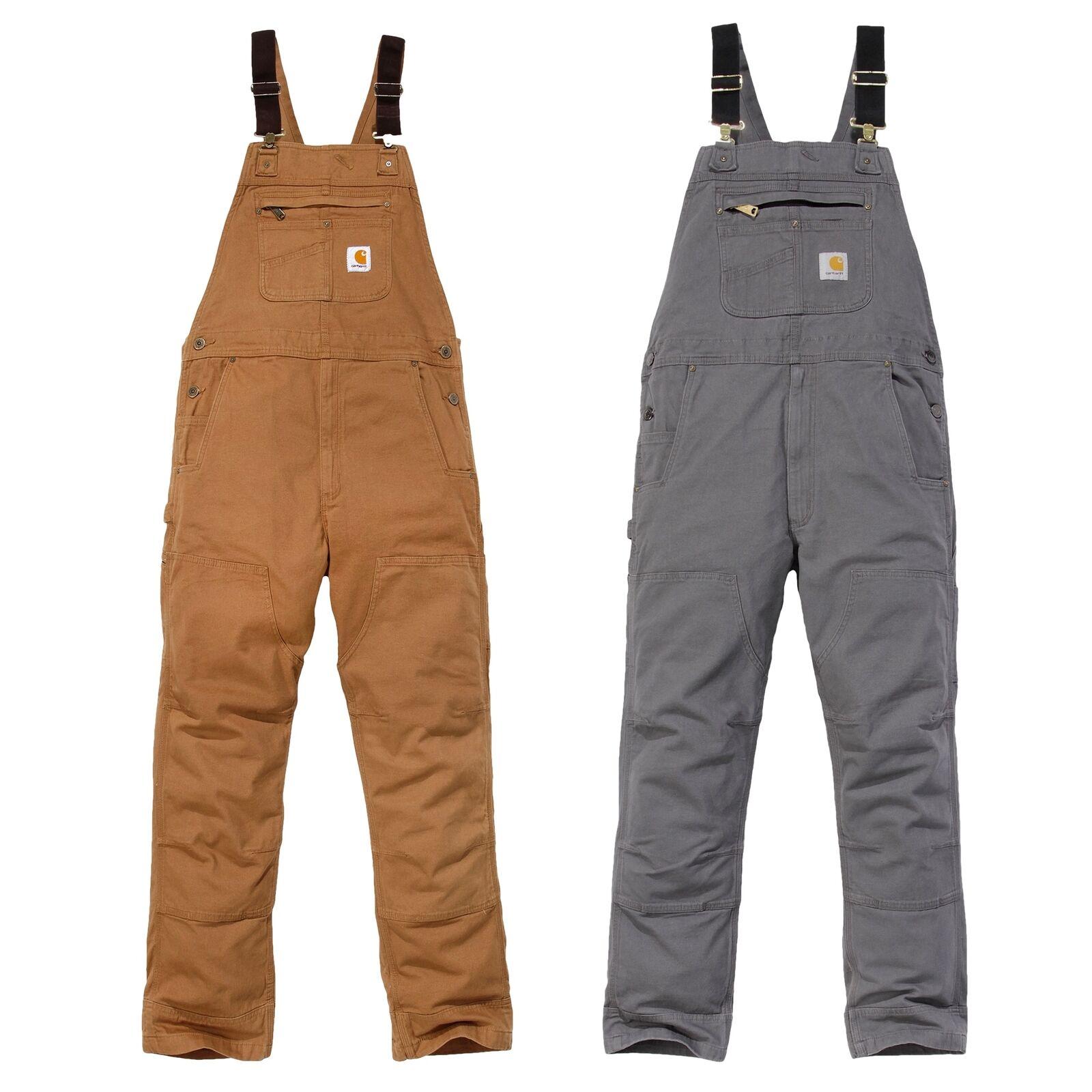 Carhartt Mens Cotton Triple Stitched Durable Bib Overalls