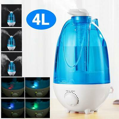 4L Ultrasonic Humidifier Diffuser LED Light Mist Maker Air Purifier Home Office 8852088395545 | eBay