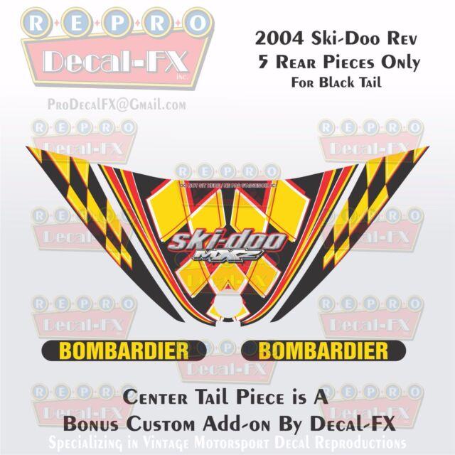 2004 Ski Doo Rev Mxz Black Tail Panel Reproduction Vinyl