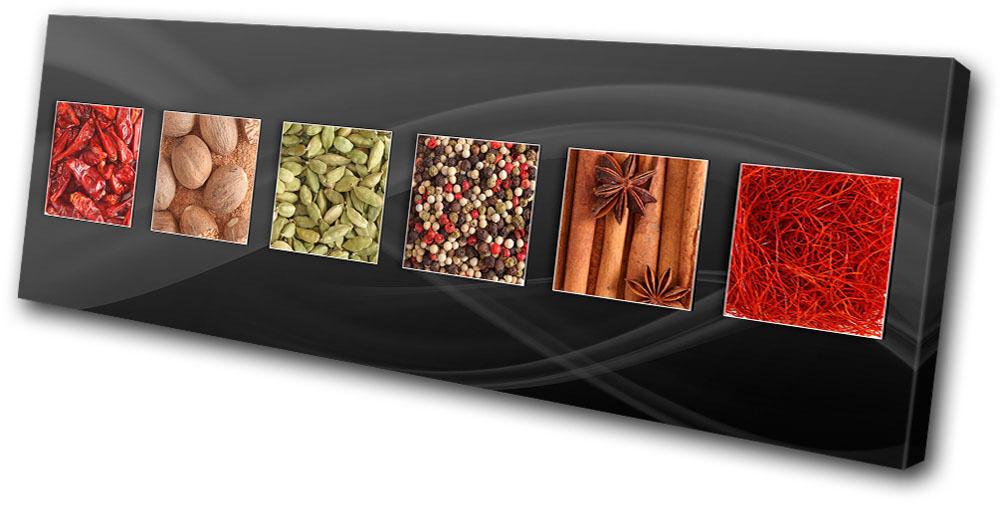 Food Kitchen Herbs Spices Indian SINGLE TELA parete arte foto foto foto stampa f67f84