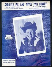 Shoo Fly Pie and Apple Pan Dowdy 1945 Jimmy Boyd Sheet Music