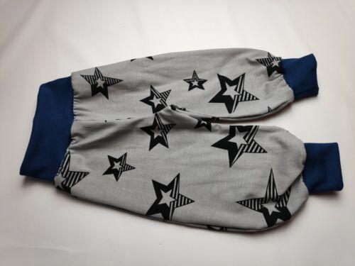 Pumphose grau große Sterne handmade gefüttert//ungefüttert