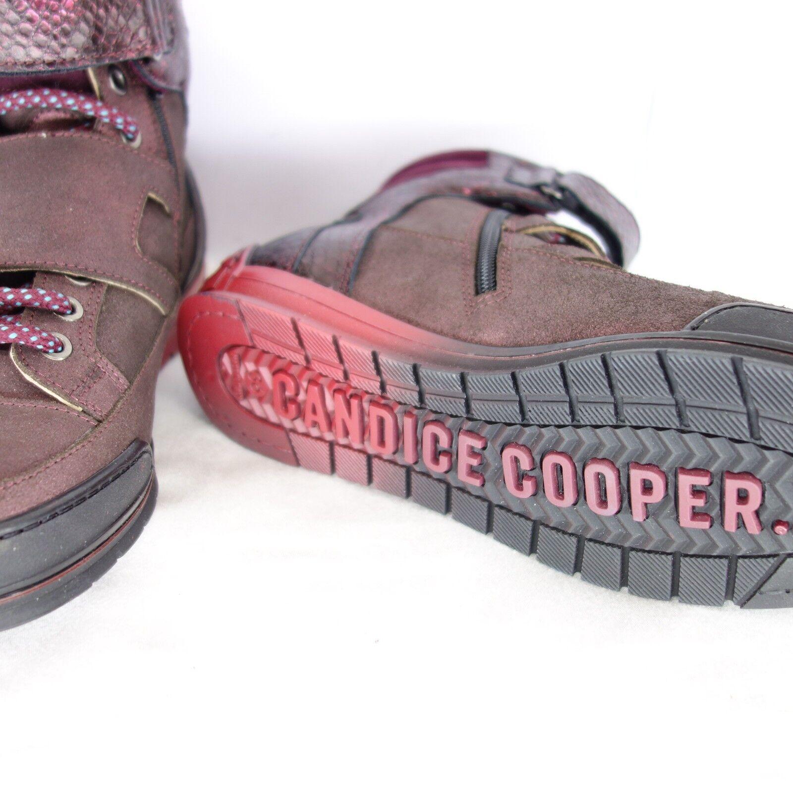 CANDICE CANDICE CANDICE COOPER Damen Turnschuhe Schuhe Rot Gr 36 Rot Leder High Top NP 189 NEU  | Reichhaltiges Design  359fcf