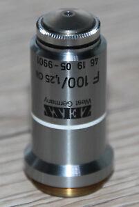 Zeiss-MICROSCOPIO-Microscope-obiettivo-f100-1-25-Oil-Zeiss-n-461905-9901