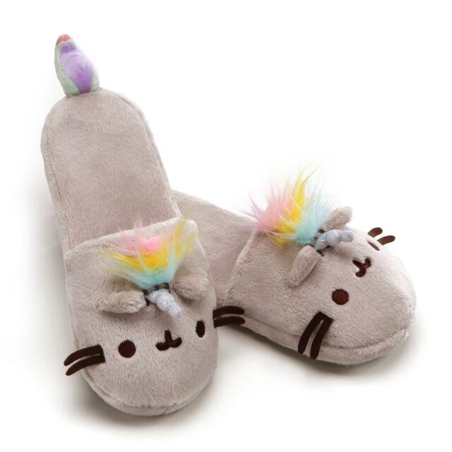 5446d95d157 GUND Pusheenicorn Pusheen Unicorn Stuffed Plush Slippers. Shipping is Free