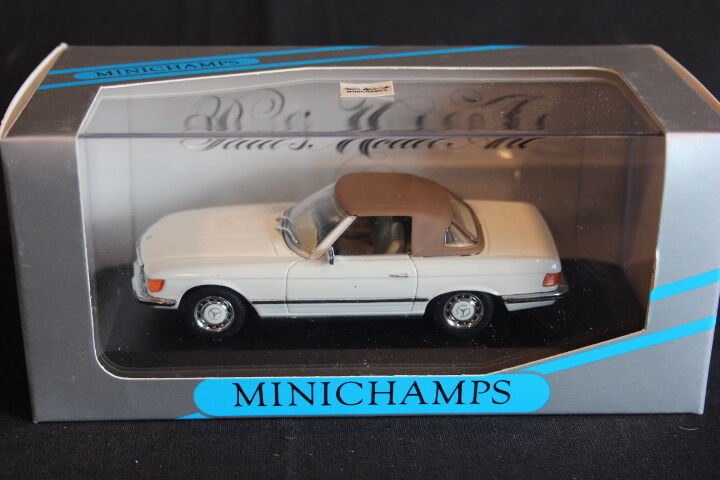 Minichamps Minichamps Minichamps Mercedes-Benz 350 SL Cabriolet Soft Top Closed 1 43 White (JS) f7fafd