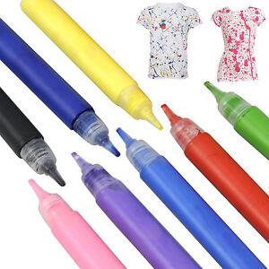 Distingué Ensemble De Peinture De Tissu Textile Vêtements T Shirt Peintures Stylos Art Noir Rouge T-shirt Rose-afficher Le Titre D'origine