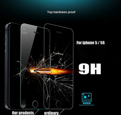 For iphone 5 5S HD Tempered Glass Toughened Glass Screen Protector Sticker