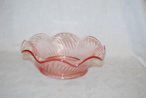 Vintage-Pink-Pressed-Cut-Glass-Serving-Bowl-depression