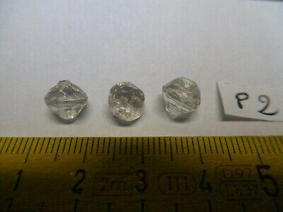 4 pampilles en verre forme goutte 31,5//19,5 mm réf A8