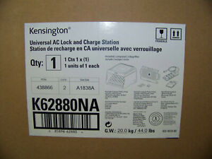 Kensington Universal AC Lock and Charge Station K62880NA New