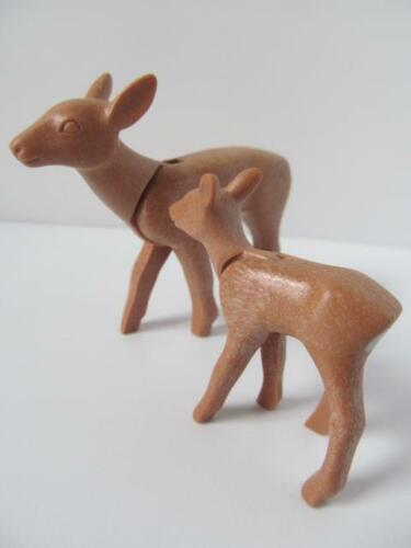 light brown Playmobil Mother deer /& baby fawn NEW farm//country//forest animals