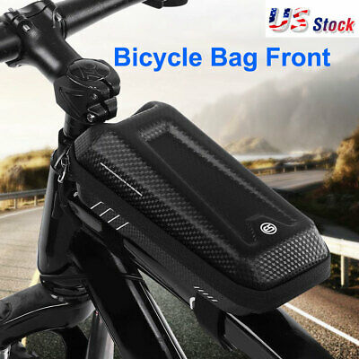 Bike Bicycle Cycling Front Tube Frame Bag Waterproof MTB Phone Storage Pouch US