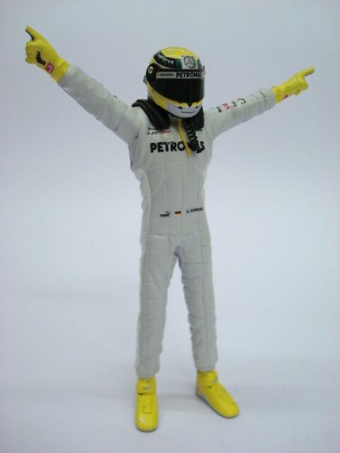 1 18 FIGURE D73H NICO ROSBERG MERCEDES 2012 F1 FIGURINO PILOTA DRIVER