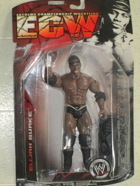w Black Gym Bag Collectible WWE  ECW Series 2 7 inches Tall New Elijah Burke Action Figure 2007 Jakks Pacific