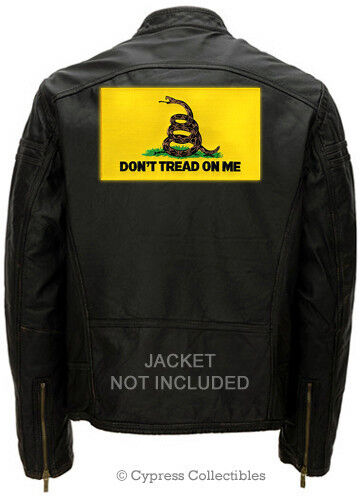 LARGE GADSDEN FLAG PATCH embroidered iron-on DONT TREAD ON ME tea party SNAKE