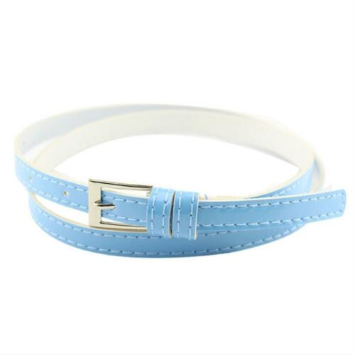 Belts For Women Slim Candy Color All Season Waist Accessories Solid Simple Strap