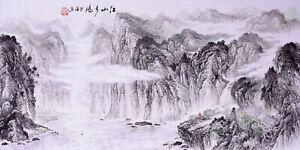 100-ORIGINAL-ASIAN-ART-CHINESE-SANSUI-WATERCOLOR-PAINTING-Landscape-scenery