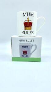 MUM RULES LOVELY MUG THE LEONARDO COLLECTION IN BOX ❤️