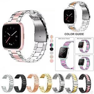 New-Stainless-Steel-Watch-Strap-For-Fitbit-Versa-Lite-Band-Screwless-Bracelet