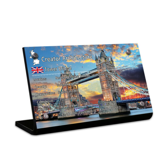 Display plaque  for  LEGO Tower Bridge Play Set 10214 (AUS Top Rated Seller)