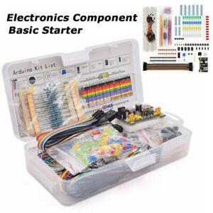 Fuer-Arduino-Widerstand-Steckbrett-Kabel-Elektroteile-Starter-Set-Nuetzliche