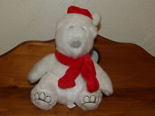 "New 9"" Bath Body Works Plush White POLAR BEAR w/ Red Scarf Stocking Stuffer"