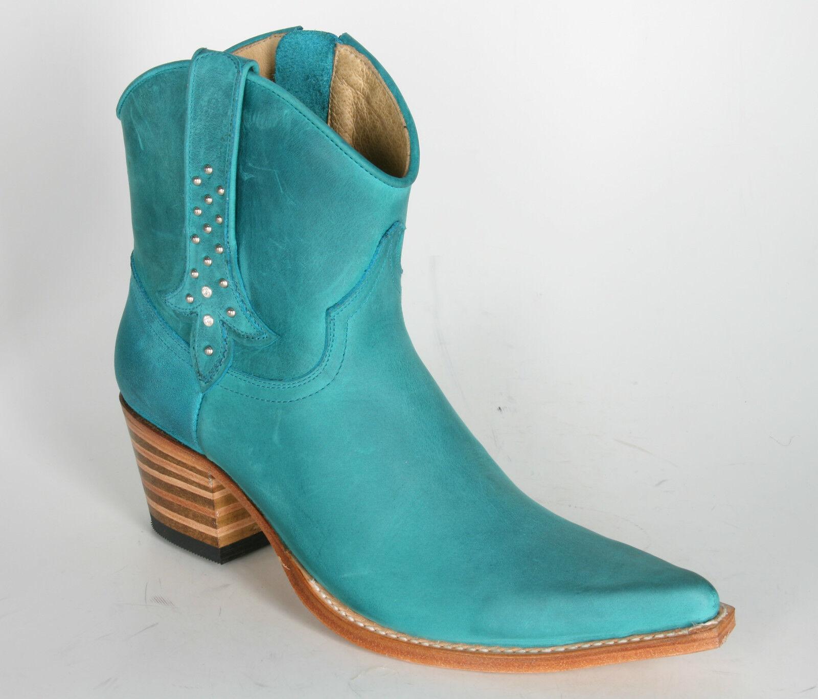 13141 Boots Sendra Boots 13141 breve-Cowboy Stivali alma Turquesa 8dc9a0