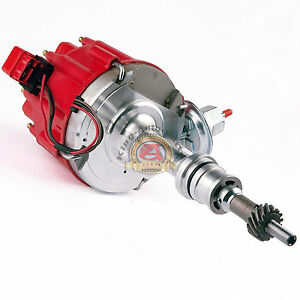 SBF-Ford-Small-Block-260-289-302-HEI-Ignition-Red-Cap-Distributor-w-65K-Coil