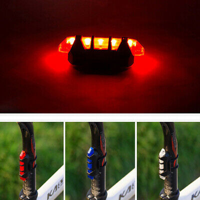2PC USB Rechargeable Bicycle Cycling Bike 3 LED Headlamp Rear Tail Light Lamp SA