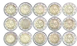 15-x-2-Euro-2009-WWU-EMU-Gemeinschaftsausgaben-Satz-ohne-Deutschland