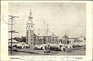 Pretoria-Suedafrika-South-Africa-1900-Dopperkerk-Kirche-Church-gelaufen-frankiert
