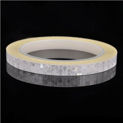 1P Reflective Stickers Motorcycle Bicycle Reflector Security Wheel Rim Decal Tap