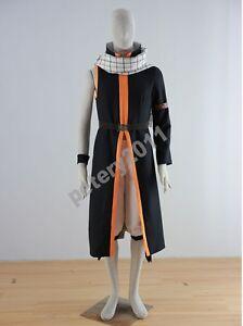 FAIRY-TAIL-Natsu-Dragneel-cosplay-costume-long-coat-scarf-belt-Custom-made