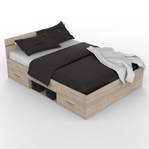 bett michigan jugendbett g stebett sonoma eiche 140x200 cm. Black Bedroom Furniture Sets. Home Design Ideas