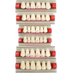 FDA-Acrylic-Resin-Denture-Dental-upper-Anterior-Teeth-Shade-G419-425-438-A2-A3
