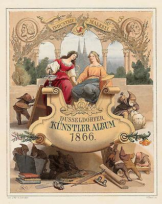 SCHROEDTER 1866 - Industrie Malerei Zwerge Düsseldorfer Künstler Album ORIGINAL