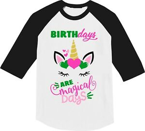 Image Is Loading Unicorn Birthday Shirt Custom Shirts Magic