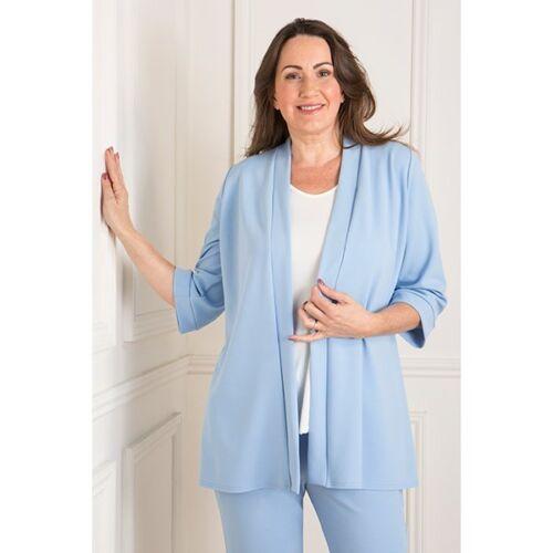 Nicole Crepe Side Split Jacket S M L Rose Ivory Pale Blue