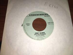 """Jimmy Gilmer & Fireballs """"Sugar Shack""""/ """"Daisy Petal Pickin"""" 45 Reissue In VG+/E"""