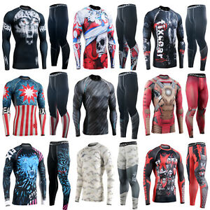 Fixgear-skin-tight-compression Manches Longues Bas Ensemble Couche De Base Mma Rash Guard-ight-compression Long Sleeve Bottom Set Base Layer Mma Rash Guard Fr-fr Afficher Le Titre D'origine Sang Nourrissant Et Esprit RéGulateur